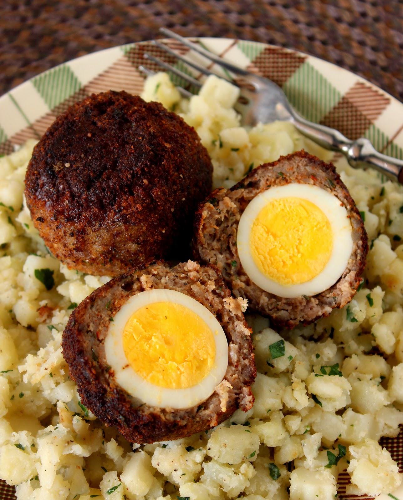 Scotch Eggs Recipe via Kudos Kitchen By Renee