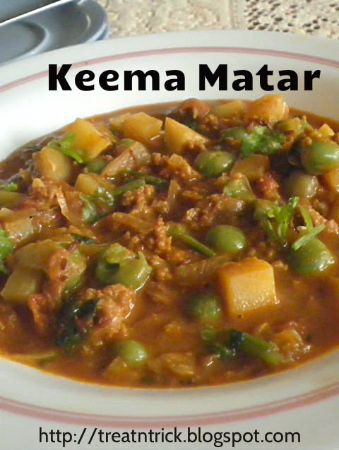 Mince meat with peas Keema Matar