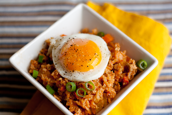 "TASTY TRIX: Tofu ""Bulgogi"" and Kimchi Fried Rice {vegetarian}"