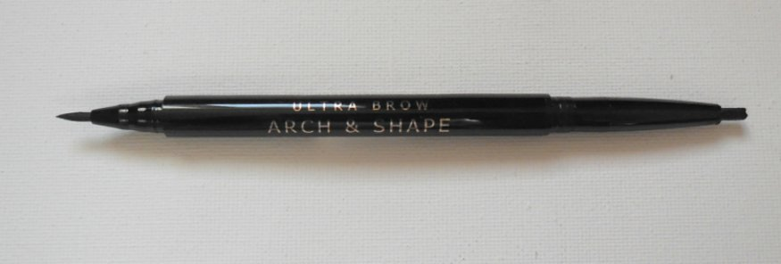 Makeup Revolution brown pencil and pen with lids off nib showing