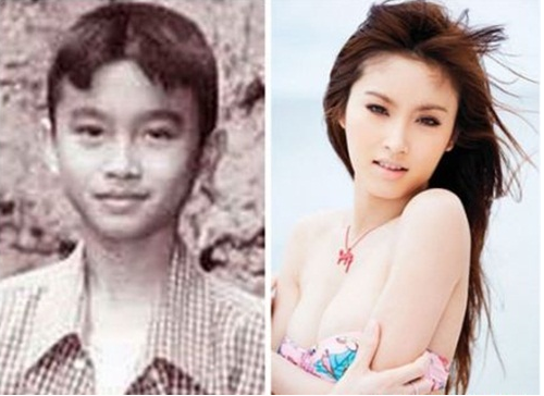 Beautiful transgender poy nong before and after