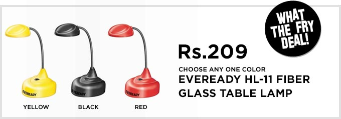Pepperfry - Eveready Hl-11 Table Lamp Black