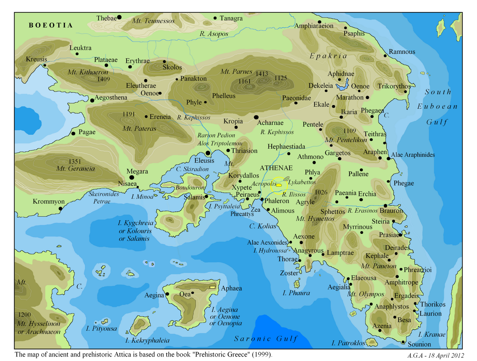 A City Like No Other The History Of Athens Up To The - Map of the distance between athens sparta and the us