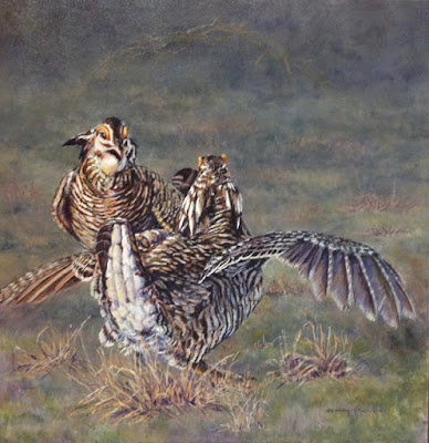 Candy McManiman, Canadian Artist, award, Prairie Chickens, Dance, painting, Art Emporium