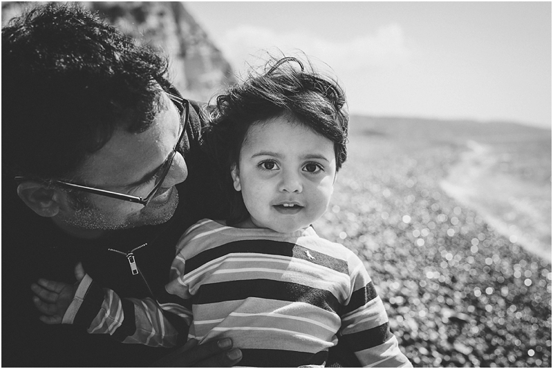 Father and daughter at Beer beach
