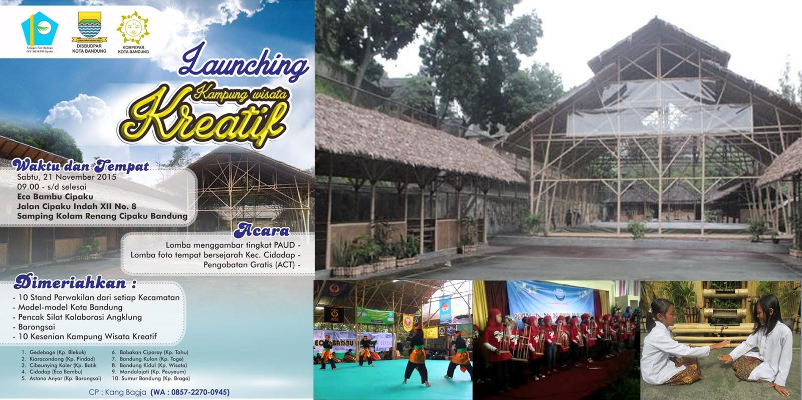 launching kampung wisata kreatif Bandung 21 November 2015