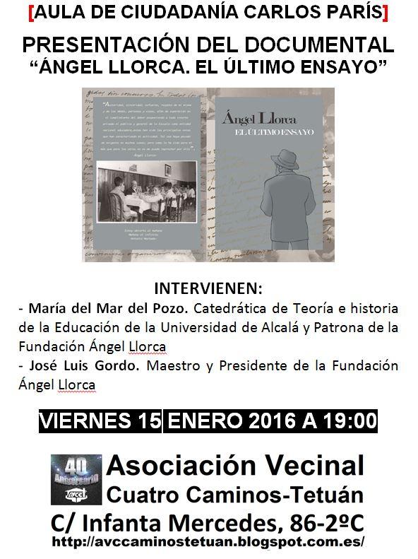 Angel Llorca: el último ensayo