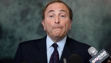 Gary Bettman at the mic
