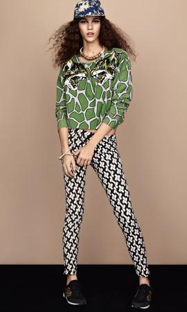 Topshop primavera verano 2013 colección safari pantalones estampados y jersey mujer