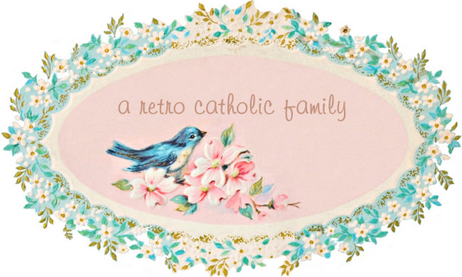 a retro Catholic family