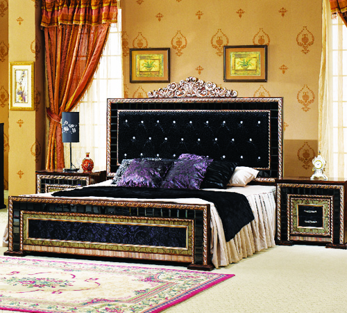 Latest furniture designs in pakistan italian style for Wood bed design 2016