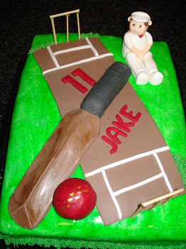 Jake&#39;s Cricket Cake