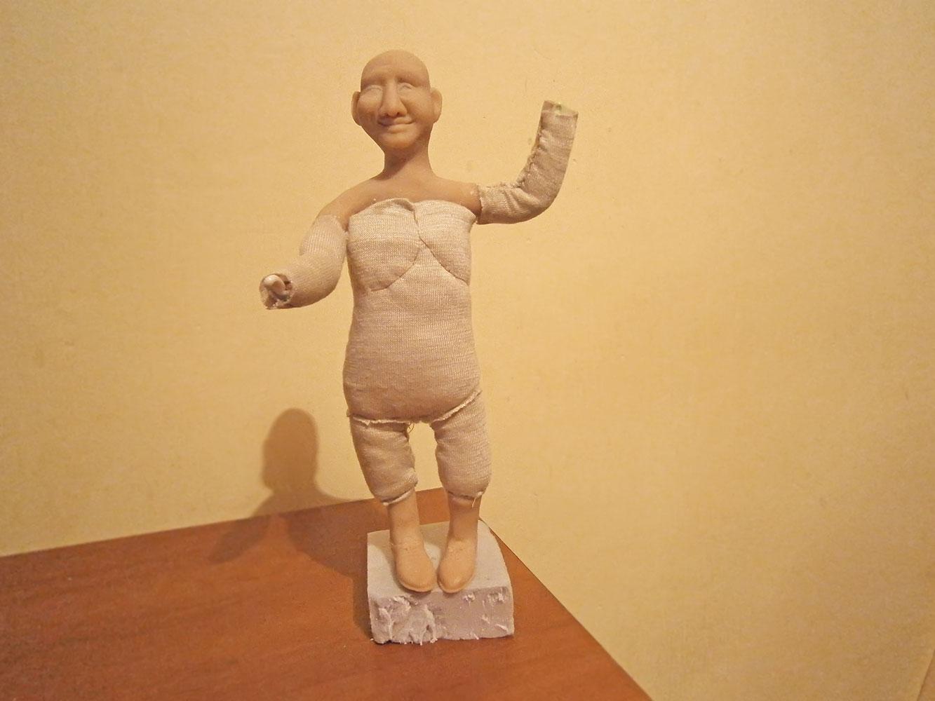 Сувенирная кукла. Лепка головы. Ярмарка Мастеров 898