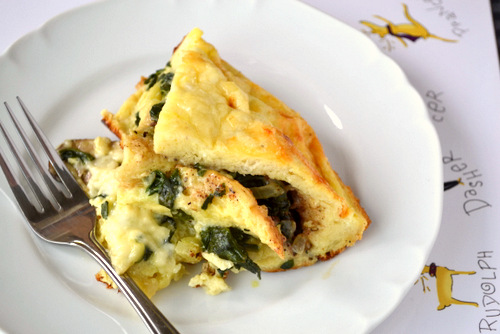 Spinach, Mushroom and Fontina Strata recipe