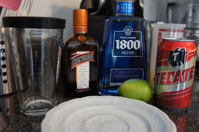 1800 tequila, Cointreau, Tecate