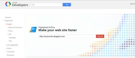 PageSpeed online Google Developer