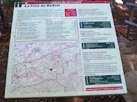 Plafó informatiu del paratge natural de la Font de Bellveí