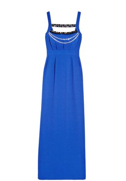 Long Masai embellished crepe maxi dress