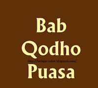 Pengertian Qhada dan Mengqhada Puasa