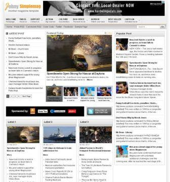 Free Magazine Blogspot template
