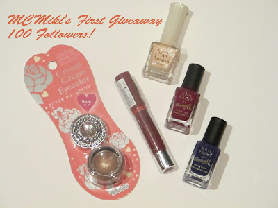 MCMiki's First Giveaway! 100 Followers!