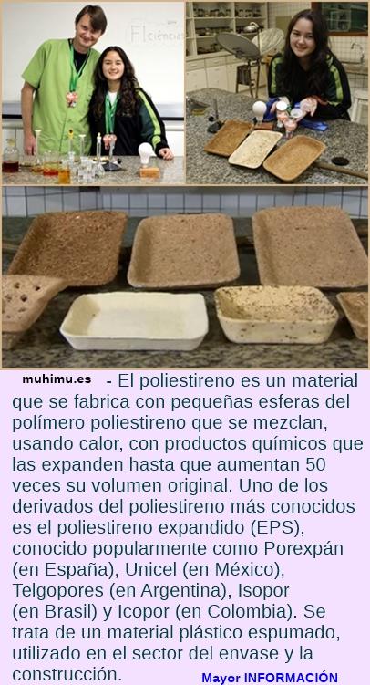 Una joven de 17 años crea bandejas biodegradables como alternativa al poliestireno