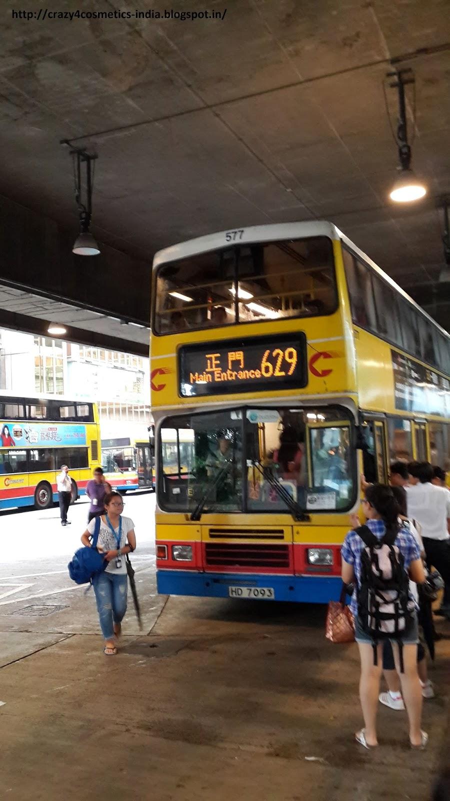 Hongkong Ocean Park Bus 629