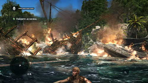 Screen Shot Of Assassin's Creed IV Black Flag (2013) Full PC Game Free Download At Downloadingzoo.Com