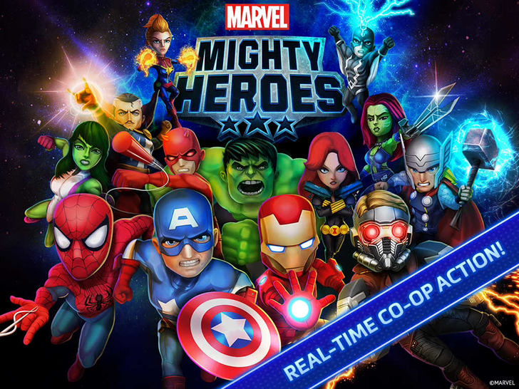 Marvel Mighty Heroes Free App Game By DeNA Corp.