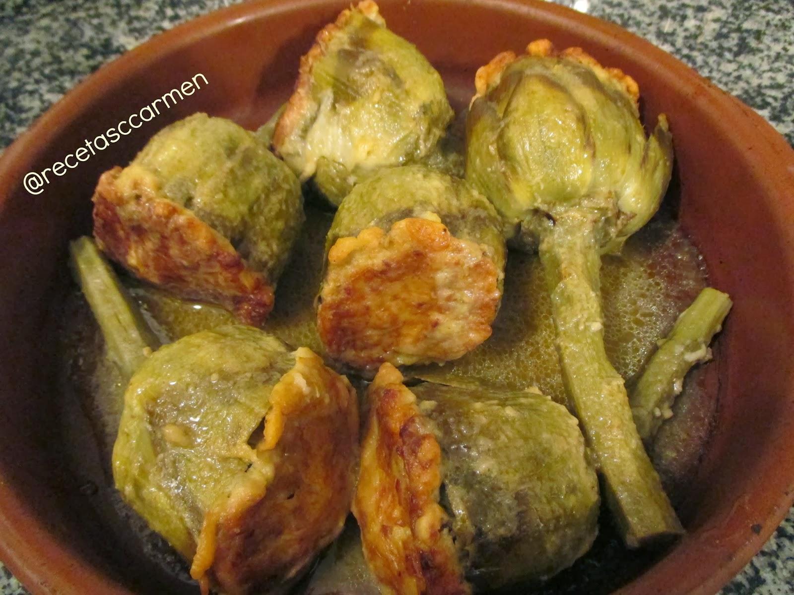 http://recetascasacarmen.blogspot.com.es/2014/01/alcachofas-rellenas.html
