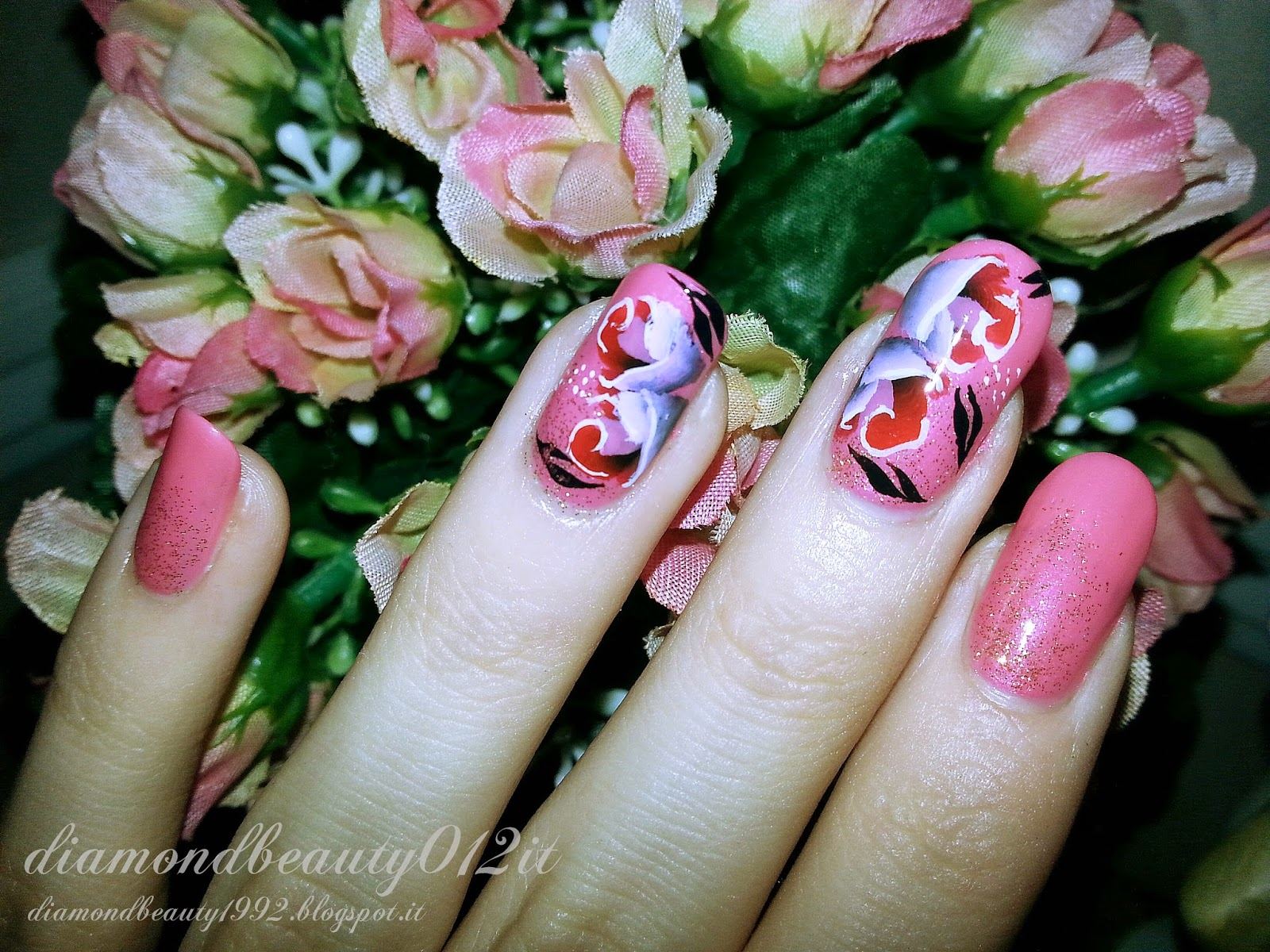 rose bouquet nails