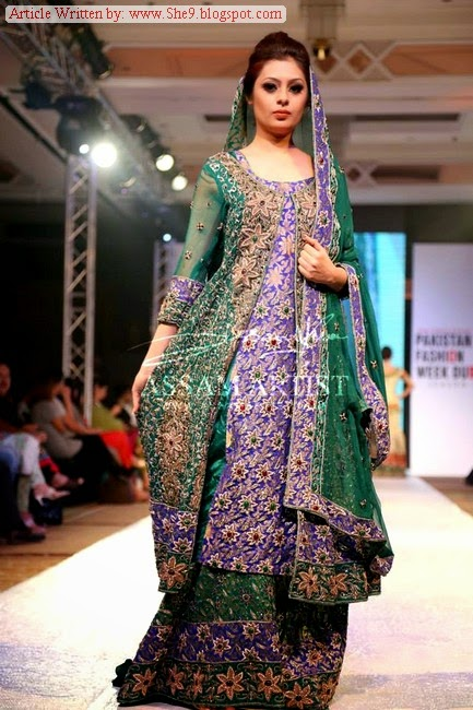 Dresses at Pakistan Fashion Show Duabi 2014 Season-2