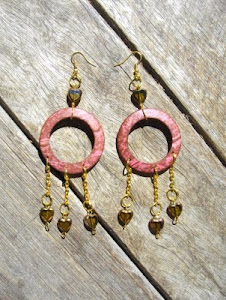 Love Heart Charm Hoop Earrings