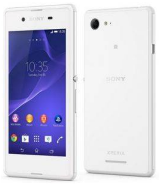 Sony Xperia E3 Single Sim - Quad Core - 4GB - Putih