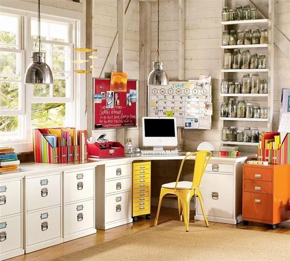 decora y disena: Muebles de Oficina en casa: Ideas de Escritorios