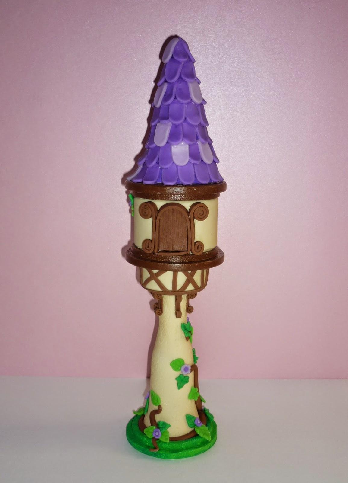 Minimandy. Adorno para Tortas. Torre de Rapunzel.