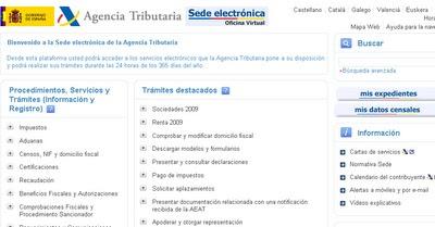Diligencias de embargo de la aeat contestaci n por internet for Aeat oficina virtual sede electronica