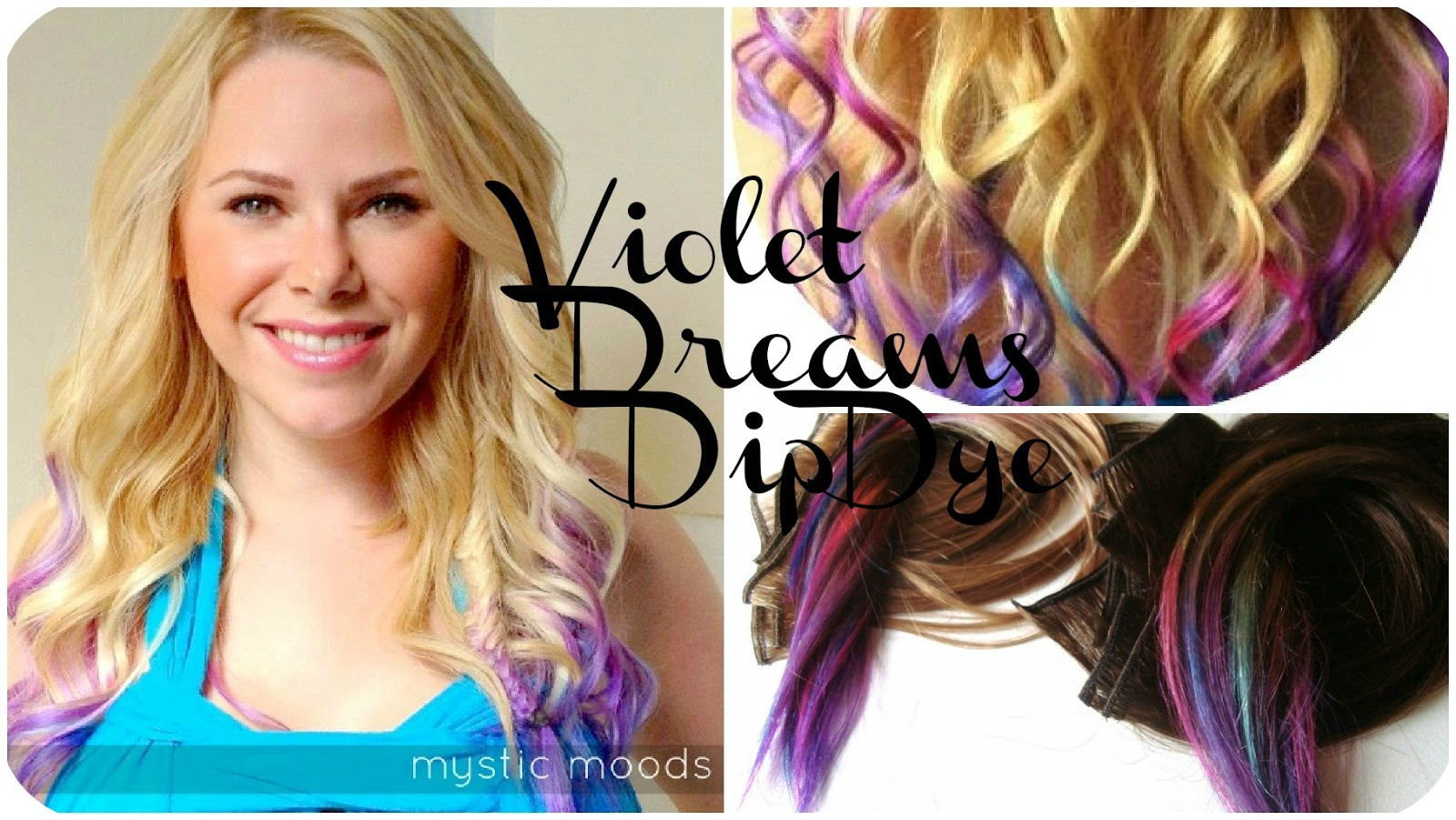 Mystic Moods Violet Dreams Dip Dye Hair Extensions Accepting