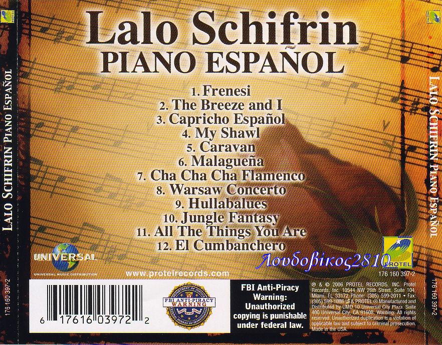 Lalo Schifrin And Orchestra Bossa Nova New Brazilian Jazz