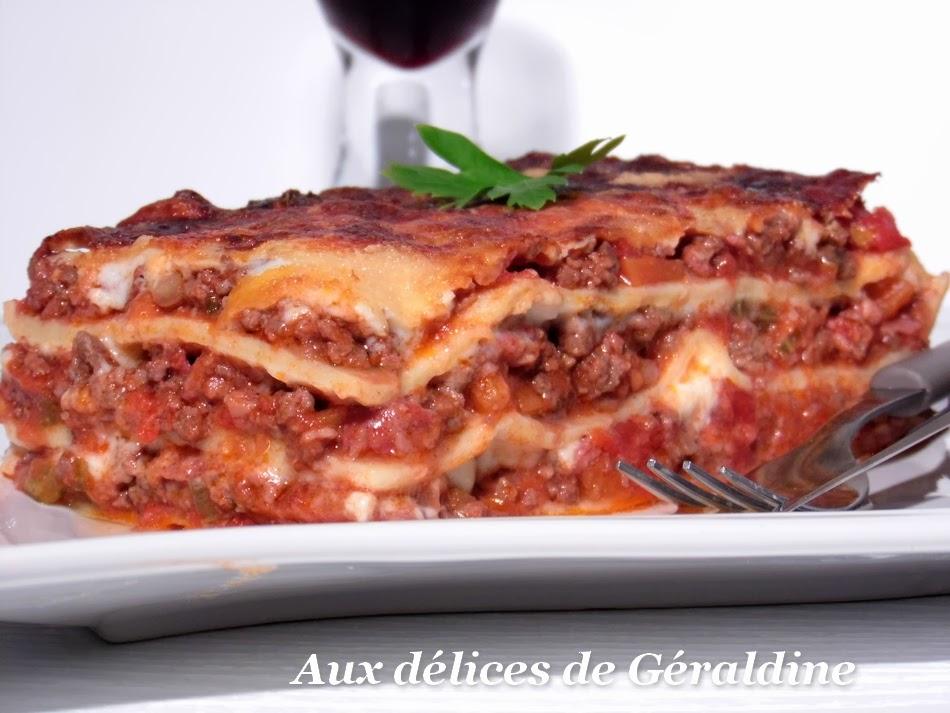 Aux Delices De Geraldine Lasagne A La Bolognaise La Vraie Recette