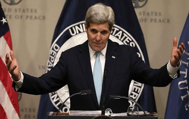 'Sorry. Definitivamente não será um tratado', disse o Secretário de Estado dos EUA John Kerry