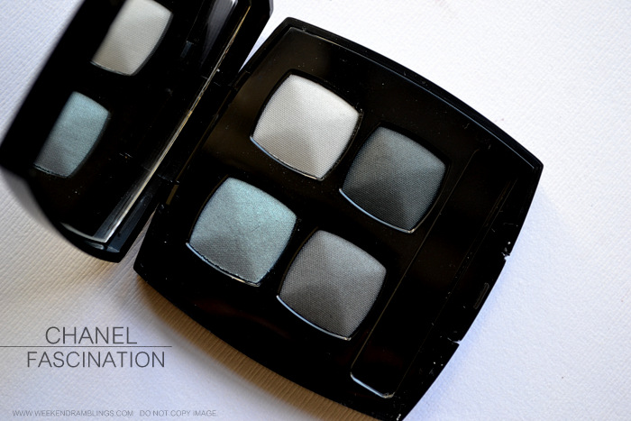 Chanel Jeux de Regards Makeup Collection Fascination Eyeshadow Quad Photos Swatches Indian Beauty Blog