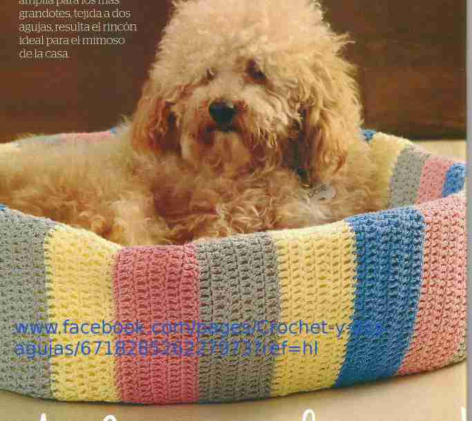 Cama de Perro a Crochet
