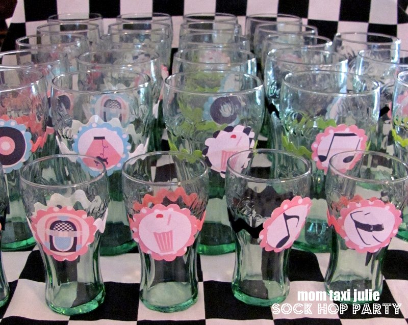 Mom taxi julie mom 39 s 60th sock hop party for 50 s theme decoration ideas