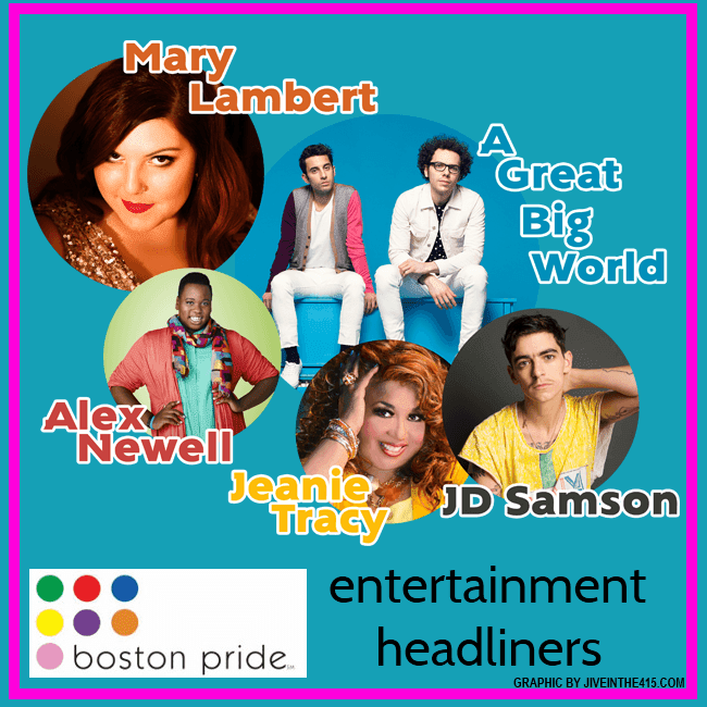 JD Sanford, Alex Newell, Jeanie Tracy, Mary Lambert, and A Great Big World