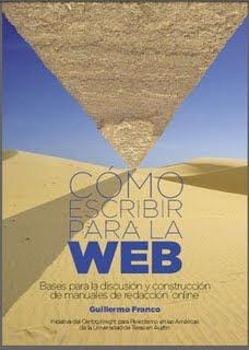 Portada del libro 'Cómo escribir para la Web' de Guillermo Franco