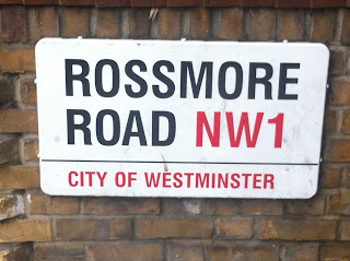 Street sign for Rossmore Road, London NW1