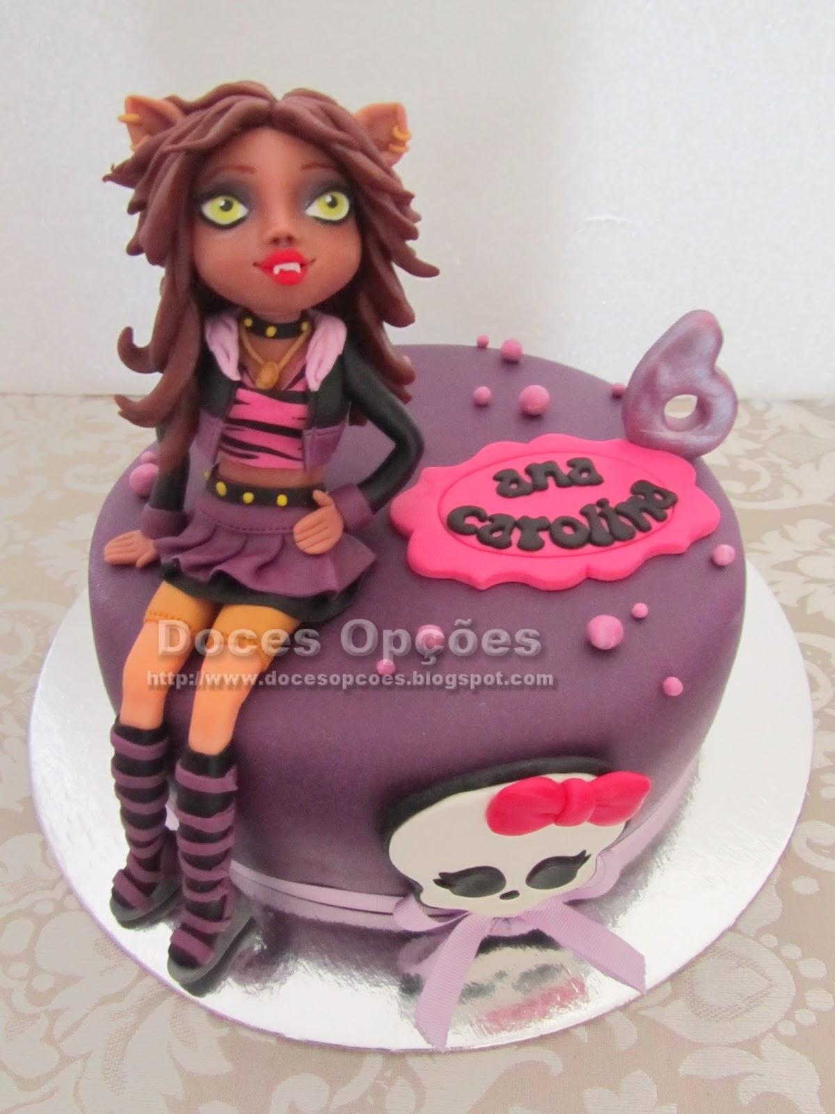 bolo monster high bragança doces opções