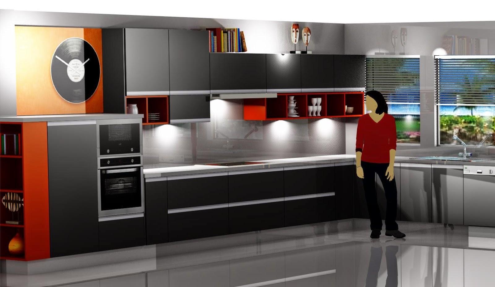 Diseño muebles de cocina Diseño de cocina laminado gris con
