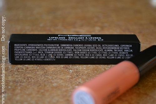 MAC EvRev Lipgloss Ingredients
